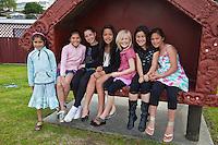 Young Maori Girls in Ohinemutu Village, Rotorua.