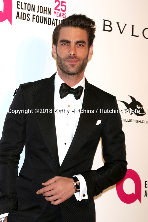 LOS ANGELES - MAR 4:  Jon Kortajarena at the 2018 Elton John AIDS Foundation Oscar Viewing Party at the West Hollywood Park on March 4, 2018 in West Hollywood, CA