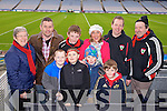 Judy Price, Sean Price, Joseph Healy, Senan Price, Kevin Price, Pierce O'Brien, Mags Healy, Vaughan O'Brien, Michael Price and Declan Finnegan (Kenmare) pictured at Croke Park on Sunday for the Kenmare vs Ballinasloe final.