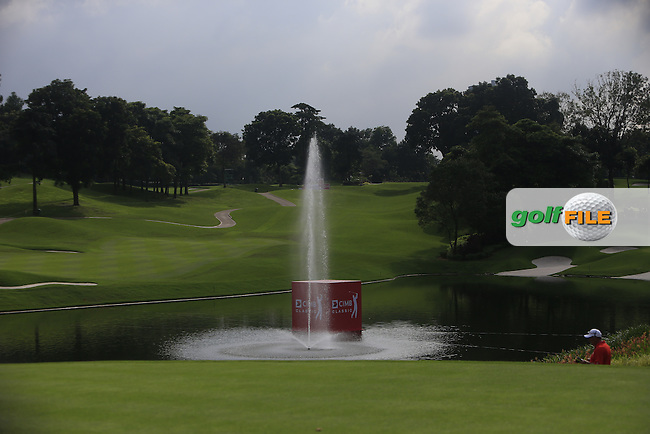 View from the 15th across the pond during Round 3 of the CIMB Classic in the Kuala Lumpur Golf &amp; Country Club on Saturday 1st November 2014.<br /> Picture:  Thos Caffrey / www.golffile.ie