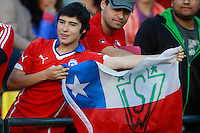 VINA DEL MAR, Chile - Friday, October 23, 2015: The USMNT U-17 go into halftime all even 1-1 with Chile in first round group play action during the 2015 FIFA U-17 World Cup at Stadium Sausalito.
