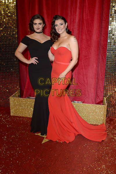 LONDON, ENGLAND - MAY 28: Kym Marsh and daughter Emilie Cunliffe attend the British Soap Awards 2016 at Hackney Town Hall on May 28, 2016 in London, England.<br /> CAP/BEL<br /> &copy;BEL/Capital Pictures