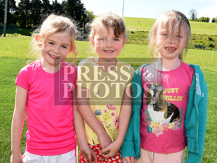 Kelly Sheridan, Fiánaita King and Niamh Boylan who took part in the St. Kevins charity relay run. Photo:Colin Bell/pressphotos.ie