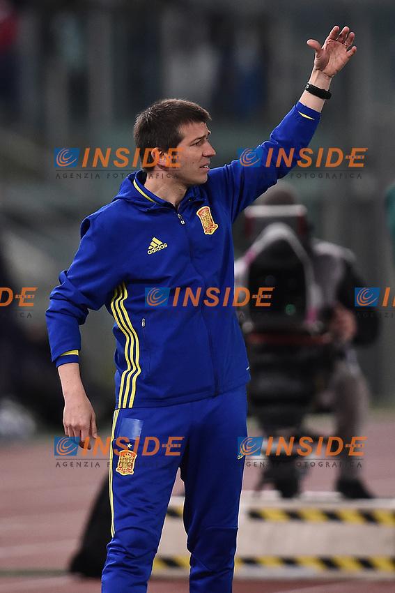 Albert Celades Spagna <br /> Roma 27-02-2017, Stadio Olimpico<br /> Football Friendly Match  <br /> Italy - Spain Under 21 Foto Andrea Staccioli Insidefoto