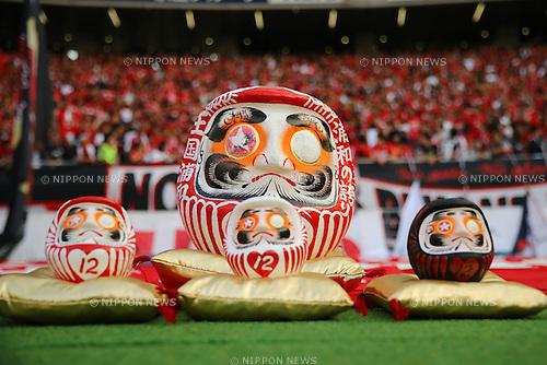 Urawa Reds Daruma dolls, OCTOBER 24, 2015 - Football / Soccer : 2015 J1 League 2nd stage match between F.C.Tokyo 3-4 Urawa Red Diamonds at Ajinomoto Stadium in Tokyo, Japan. (Photo by AFLO)