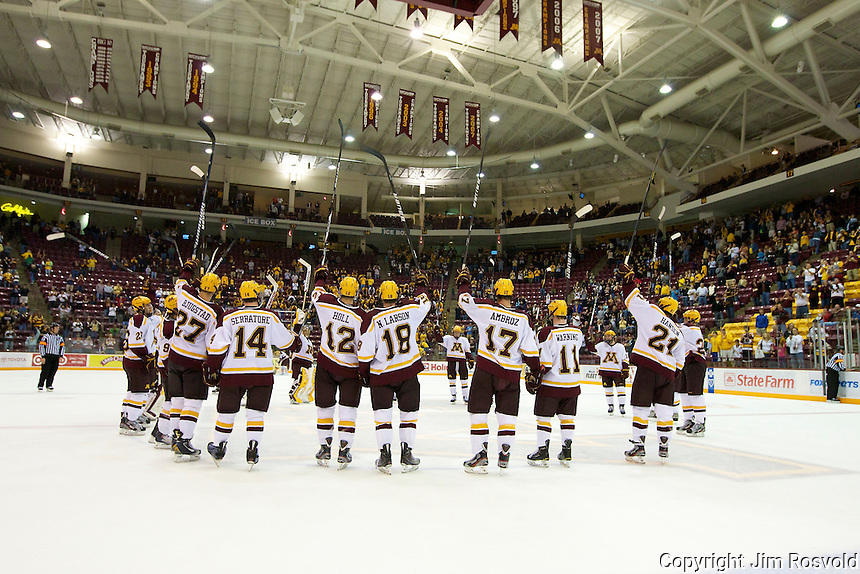 8 Oct 10:  Minnesota Stick Salute.  The University of Minnesota plays host to Sacred Heart in a non-conference matchup at Mariucci Arena in Minneapolis, MN.