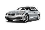Stock pictures of low aggressive front three quarter view of 2018 BMW 3-Series 320i 4 Door Sedan Low Aggressive