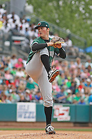 Augusta GreenJackets pitcher Matthew Gage (49) during a game against the Charleston Riverdogs at Joseph P.Riley Jr. Ballpark on April 15, 2015 in Charleston, South Carolina. Charleston defeated Augusta 8-0. (Robert Gurganus/Four Seam Images)