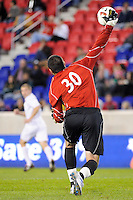 Cincinnati Bearcats goalkeeper Matt Williams (30). The Providence Friars defeated the Cincinnati Bearcats 2-1 during the semi-finals of the Big East Men's Soccer Championship at Red Bull Arena in Harrison, NJ, on November 12, 2010.