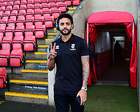 Lincoln City's Bruno Andrade arrives at the ground<br /> <br /> Photographer Andrew Vaughan/CameraSport<br /> <br /> The EFL Sky Bet League Two - Crewe Alexandra v Lincoln City - Wednesday 26th December 2018 - Alexandra Stadium - Crewe<br /> <br /> World Copyright &copy; 2018 CameraSport. All rights reserved. 43 Linden Ave. Countesthorpe. Leicester. England. LE8 5PG - Tel: +44 (0) 116 277 4147 - admin@camerasport.com - www.camerasport.com