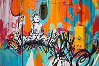 Space cadet graffiti in wynwood walls, miami