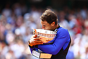 11th June 2017, Roland Garros, Paris, France;   RAFAEL NADAL (ESP) during the men's final match of the 2017 French Open