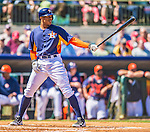 7 March 2013: Houston Astros outfielder Justin Maxwell in action during a Spring Training game against the Washington Nationals at Osceola County Stadium in Kissimmee, Florida. The Astros defeated the Nationals 4-2 in Grapefruit League play. Mandatory Credit: Ed Wolfstein Photo *** RAW (NEF) Image File Available ***