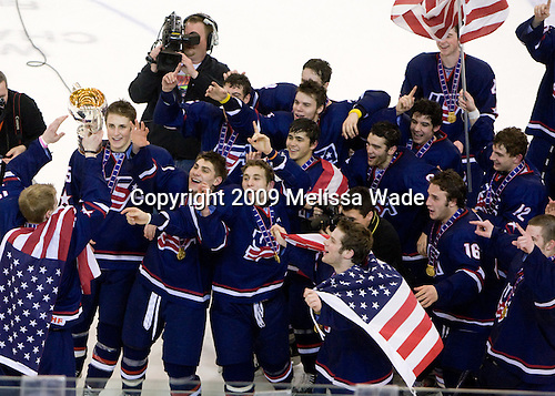The US defeated Russia 5-0 in the 2009 World Under 18 Championship gold medal game at the Urban Plains Center in Fargo, North Dakota, on Sunday, April 19, 2009.