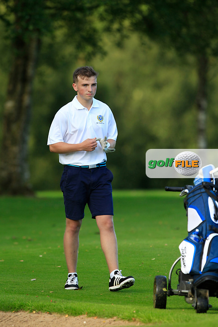 Eoin Durkin (Warrenpoint) during the final of the AIG Jimmy Bruen Ulster Final at Dungannon Golf Club, Dungannon, Tyrone, Ireland. 11/08/2017<br /> Picture: Fran Caffrey / Golffile