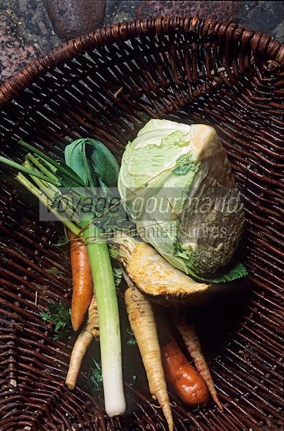 Europe/Pologne/Varsovie: Le marché de la halle Mirowska - Détail des quatre légumes de la soupe nationale le Borsch