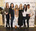 Leah Hofmann, Naomi Kakuk, Elizabeth Dugas, Brittany Marcin Maschmeyer, Maira Barriga, and Erin Moore attends the press photocall for 'The Beast In The Jungle' at the New 42nd Street Studios on April 3, 2018 in New York City.