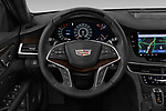 Car pictures of steering wheel view of a 2019 Cadillac CT6 Platinum 4 Door Sedan Steering Wheel