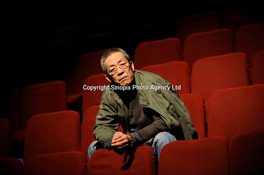 Director Lin Zhaohua of the Beijing People's Art Theatre poses in a theatre in Beijing, China.<br /> <br /> photo by Lou Lin Wei / Sinopix