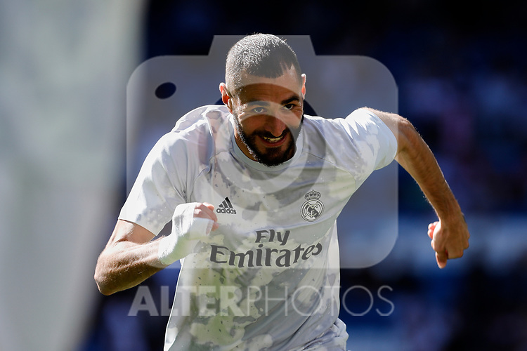 Karim Benzema of Real Madrid during La Liga match between Real Madrid and Granada CF at Santiago Bernabeu Stadium in Madrid, Spain. October 05, 2019. (ALTERPHOTOS/A. Perez Meca)