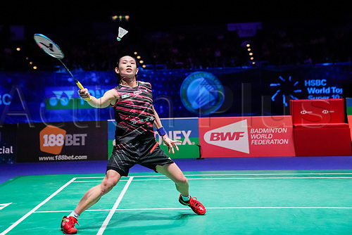 18th March 2018, Arena Birmingham, Birmingham, England; Yonex All England Open Badminton Championships; Tai Tzu Ying (TPE)  in the womens singles the final against Akane Yamaguchi (JPN)