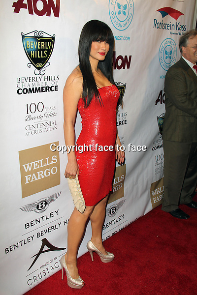 BEVERLY HILLS, CA - February 05: Kelly Hu at Experience East Meets West honoring Beverly Hills' momentous centennial year, Crustacean, Beverly Hills, February 05, 2014.<br />