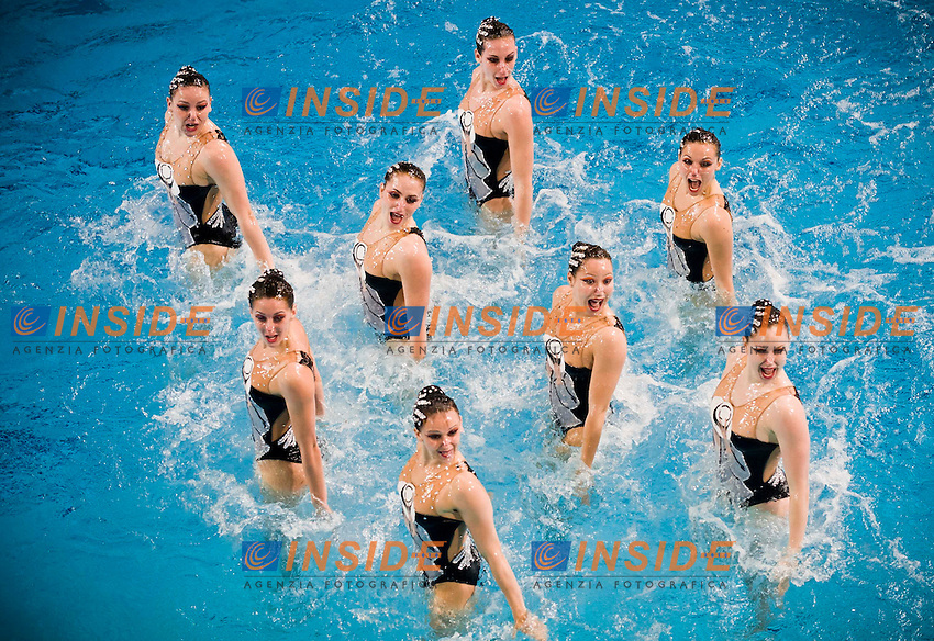 Team France..European Synchronised Swimming Championships Eindhoven 2012..Teams technical routine - Preliminaries ..Eindhoven (Netherlands), 25/05/2012, Pieter Van Den Hoogenband Swimming Stadium..ph. Giorgio Perottino / Deepbluemedia