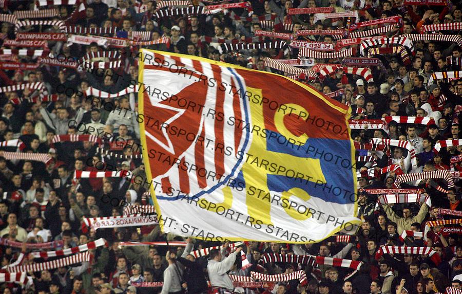 Fudbal, UEFA Cup,Group F.Crvena Zvezda Vs. Bayern Munich.Delije, Navijaci, Fans, Zastave, flags, supporters.Beograd, 25.10.2007..foto: Srdjan Stevanovic