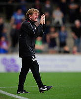 Scunthorpe United manager Stuart McCall reacts after his side failed to convert a free kick<br /> <br /> Photographer Chris Vaughan/CameraSport<br /> <br /> The EFL Sky Bet League One - Scunthorpe United v Peterborough United - Saturday 13th October 2018 - Glanford Park - Scunthorpe<br /> <br /> World Copyright © 2018 CameraSport. All rights reserved. 43 Linden Ave. Countesthorpe. Leicester. England. LE8 5PG - Tel: +44 (0) 116 277 4147 - admin@camerasport.com - www.camerasport.com