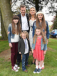 Isabelle Scanlon who was confirmed at The Church of the Immaculate Conception Termonfeckin pictured with her family. Photo:Colin Bell/pressphotos.ie