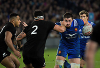 France's Kevin Gourdon in action during the Steinlager Series international rugby match between the New Zealand All Blacks and France at Eden Park in Auckland, New Zealand on Saturday, 9 June 2018. Photo: Dave Lintott / lintottphoto.co.nz