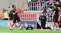 Lincoln City manager Danny Cowley celebrates after a late chance by Rotherham United went wide<br /> <br /> Photographer Chris Vaughan/CameraSport<br /> <br /> The EFL Sky Bet Championship - Rotherham United v Lincoln City - Saturday 10th August 2019 - New York Stadium - Rotherham<br /> <br /> World Copyright © 2019 CameraSport. All rights reserved. 43 Linden Ave. Countesthorpe. Leicester. England. LE8 5PG - Tel: +44 (0) 116 277 4147 - admin@camerasport.com - www.camerasport.com