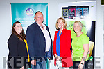 The speakers at the South Kerry Developing Partnership BTWEA Networkning event in the Killarney KDYS centre on Thursday evening l-r: Aisling O'Sullivan-Darcy Rural Development Officier, Micheal Kenneally INTREO, Joanne Griffin Enterprise Officer and Clair Kelly The Busy Botanist