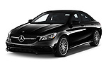 2019 Mercedes Benz CLA-Coupe 45-AMG 4 Door Sedan Angular Front automotive stock photos of front three quarter view