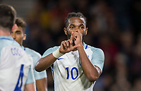 Kasey Palmer (Huddersfield Town (on loan from Chelsea) of England U21 celebrates scoring his goal making it 3 0 during the UEFA EURO U-21 First qualifying round International match between England 21 and Latvia U21 at the Goldsands Stadium, Bournemouth, England on 5 September 2017. Photo by Andy Rowland.