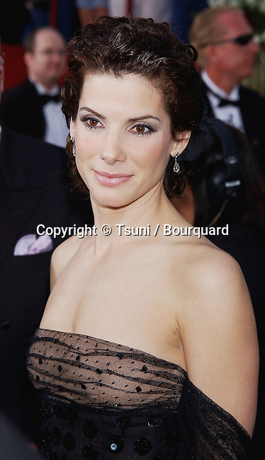 Sandra Bullock arriving at the 74th Annual Academy Awards at the kodak Theatre in Los Angeles. March 24, 2002.