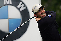 Padraig Harrington drives off on the 5th hole during the 3rd round of the BMW PGA Championship at Wentworth Club, Surrey, England 26th may 2007 (Photo by Eoin Clarke/NEWSFILE)