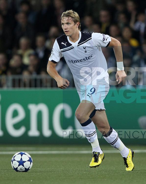 Tottenham's Roman Pavlyuchenko in action