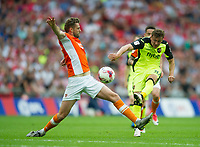Exeter's Lee Holmes during the Sky Bet League 2 PLAY OFF FINAL match between Exeter City and Blackpool at Wembley Stadium, London, England on 28 May 2017. Photo by Andrew Aleksiejczuk.