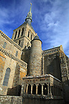 The Abbey of Mont-St-Michel, Normandy, France.