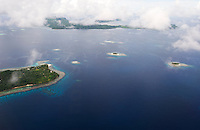 The islands of Pohnpei, Micronesia, are fringed by coral reefs and set amidst the Pacific's dark blue waters.