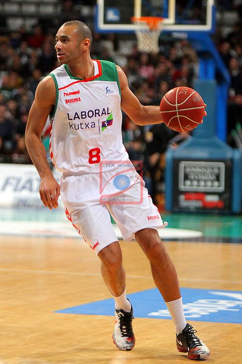 League ACB-Endesa 2015-2016. Game: 16.<br /> FIATC Joventut vs Laboral Kutxa Baskonia: 68-89.<br /> Adam Hanga.