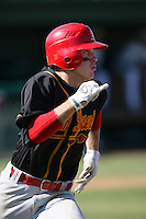 April 7, 2010: Ryan Garvey of Palm Desert High School during National Classic Tournament in Anaheim,CA.  Photo by Larry Goren/Four Seam Images