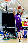 Eric Javarin Ferguson #3 of HKPA dunks the ball during the Hong Kong Basketball League game between Nam Ching and  HKPA at Southorn Stadium on June 12, 2018 in Hong Kong. Photo by Yu Chun Christopher Wong / Power Sport Images