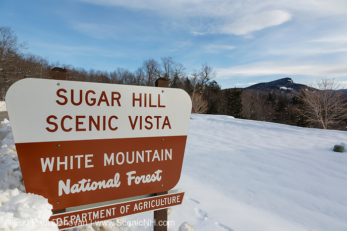 Sugar Hill Scenic Vista along the Kancamagus Highway (route 112), which is one of New England's scenic byways located in the White Mountains, New Hampshire USA