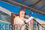 Soprano Mary Culloty O'Sullivan singing at the Killarney St Patricks parade on Thursday