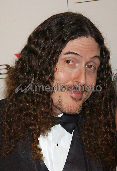 Feb. 8, 2004; Hollywood, CA, USA; SingerWIERD AL YANKOVIC and wife during the BMG 46th Annual Grammy Awards Post-Grammy Gala Celebration held at The Avalon. Mandatory Credit: Photo by Laura Farr/AdMedia. (©) Copyright 2003 by Laura Farr