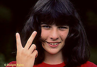 SN47-014z  Teenager with hand gesture - victory signal