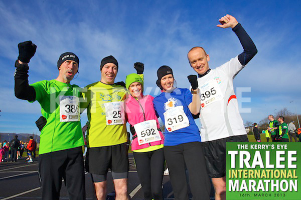 0386 Tim McCarthy 0025 Eddie Birmingham  0592 Irene Ralston 0395 John McGillicuddy  who took part in the Kerry's Eye, Tralee International Marathon on Saturday March 16th 2013.