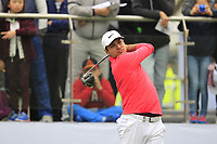 Julian Suri (USA) on the 1st tee during Round 3 of the UBS Hong Kong Open, at Hong Kong golf club, Fanling, Hong Kong. 25/11/2017<br /> Picture: Golffile | Thos Caffrey<br /> <br /> <br /> All photo usage must carry mandatory copyright credit     (© Golffile | Thos Caffrey)